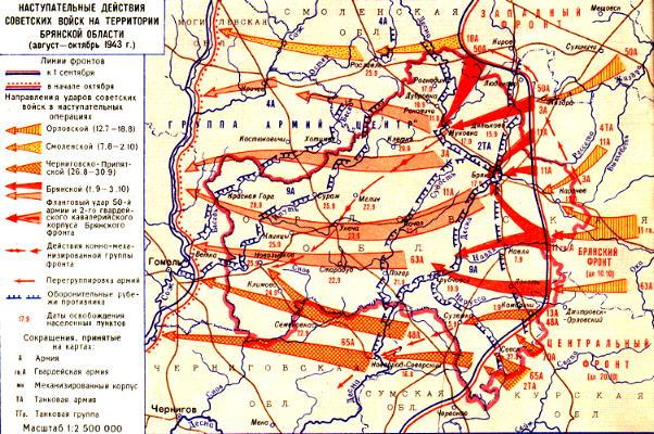 какие части советских располагались в комаричском районе орловской области в годы вов
